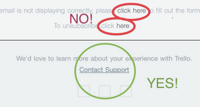 HOT TIP: Don't Say 'Click Here'